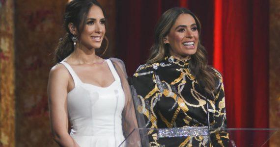 Galilea Montijo y Cynthia Urías revelaron la lista de nominados a Premios TVyNovelas. Foto: Ricardo Cristino