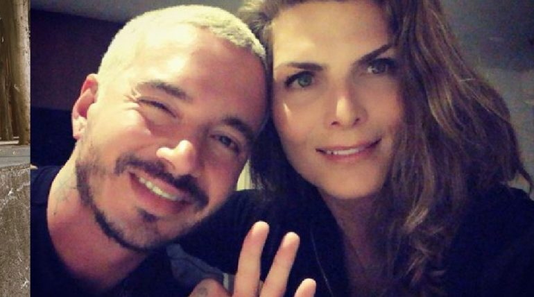 J Balvin y Montserrat Oliver. Foto: Instagram