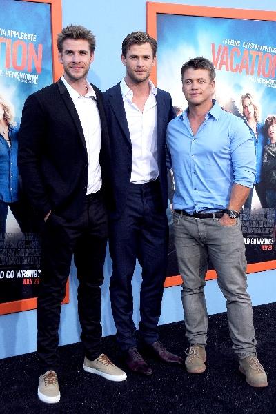 Liam, Chris y Luke. Foto: Getty Images