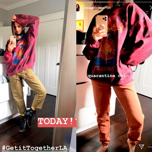 Eiza González. Capturas de pantalla Instagram