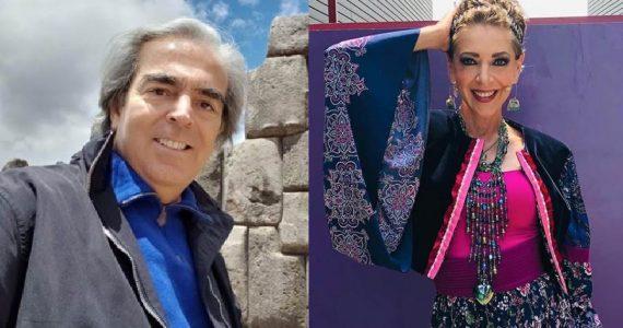 Lorenzo Lazo y Edith González. Foto: Instagram