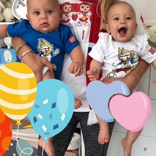 Anna Kournikova, Nicholas y Lucy. Foto: Instagram