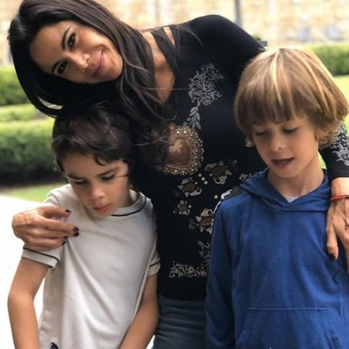 Paola Rojas, Leonardo y Paolo. Foto: Instagram
