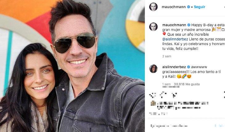Mauricio Ochmann y Aislinn Derbez. Foto: Instagram