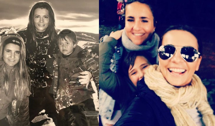 Cecilia Galliano, Valentina y Santi. Foto: Instagram