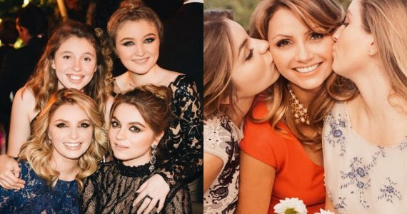 Angelica Rivera y sus hijas. Fotos: Instagram