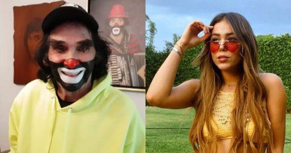 Cepillín vs. Danna Paola. Fotos: Instagram