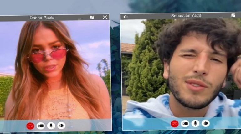 Danna Paola y Sebastián Yatra juntos en un videoclip. Foto: Youtube