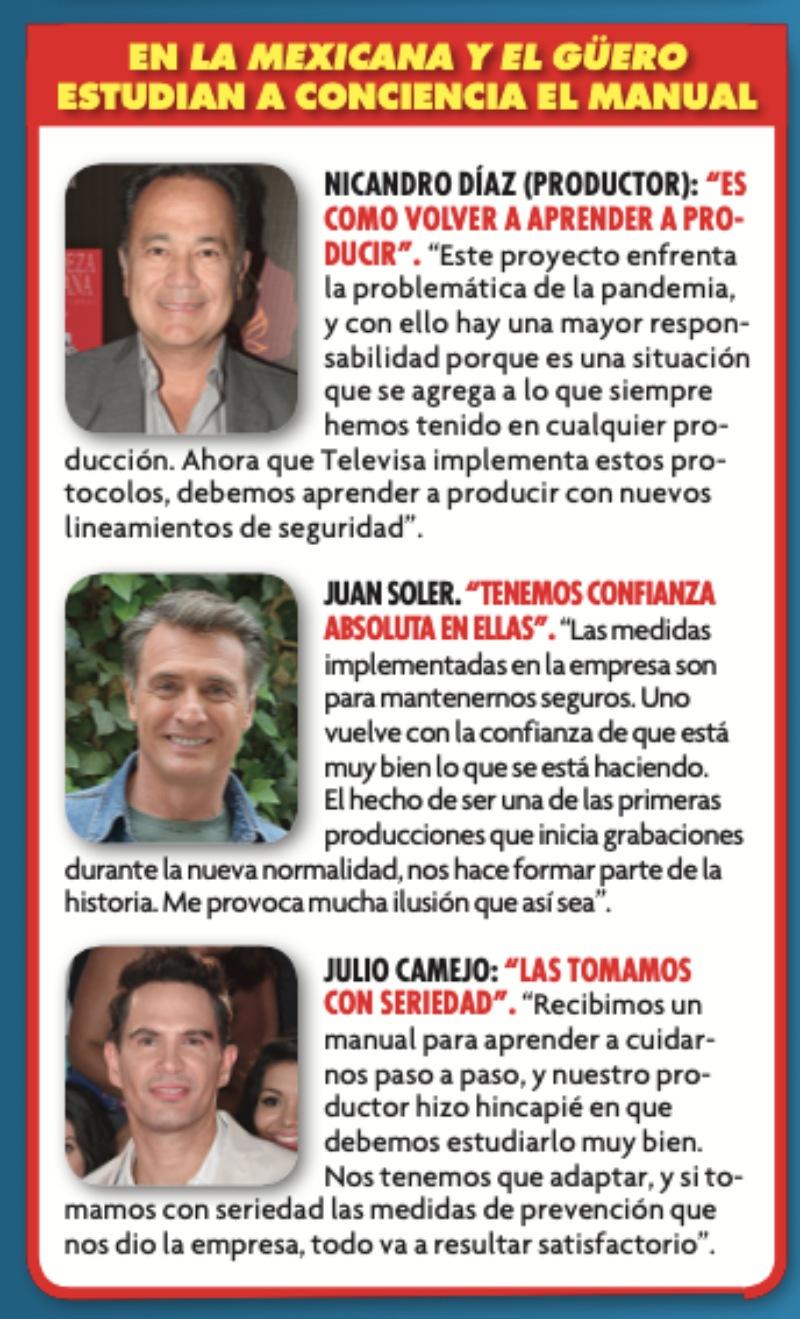 ¡Por coronavirus! Así trabajan las producciones de Televisa