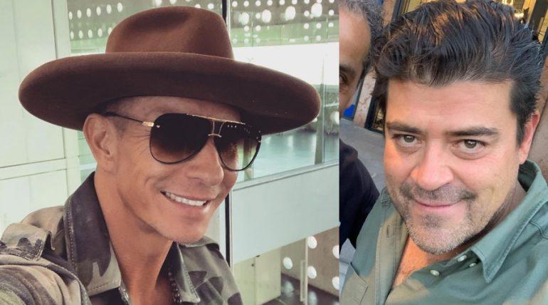 Érik Rubín y Jorge, el 'Burro', Van Rankin. Fotos: Instagram