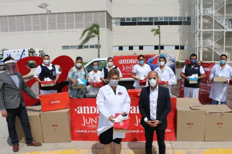 Andrea realiza donativo importante al sector salud de León. Foto: Cortesía