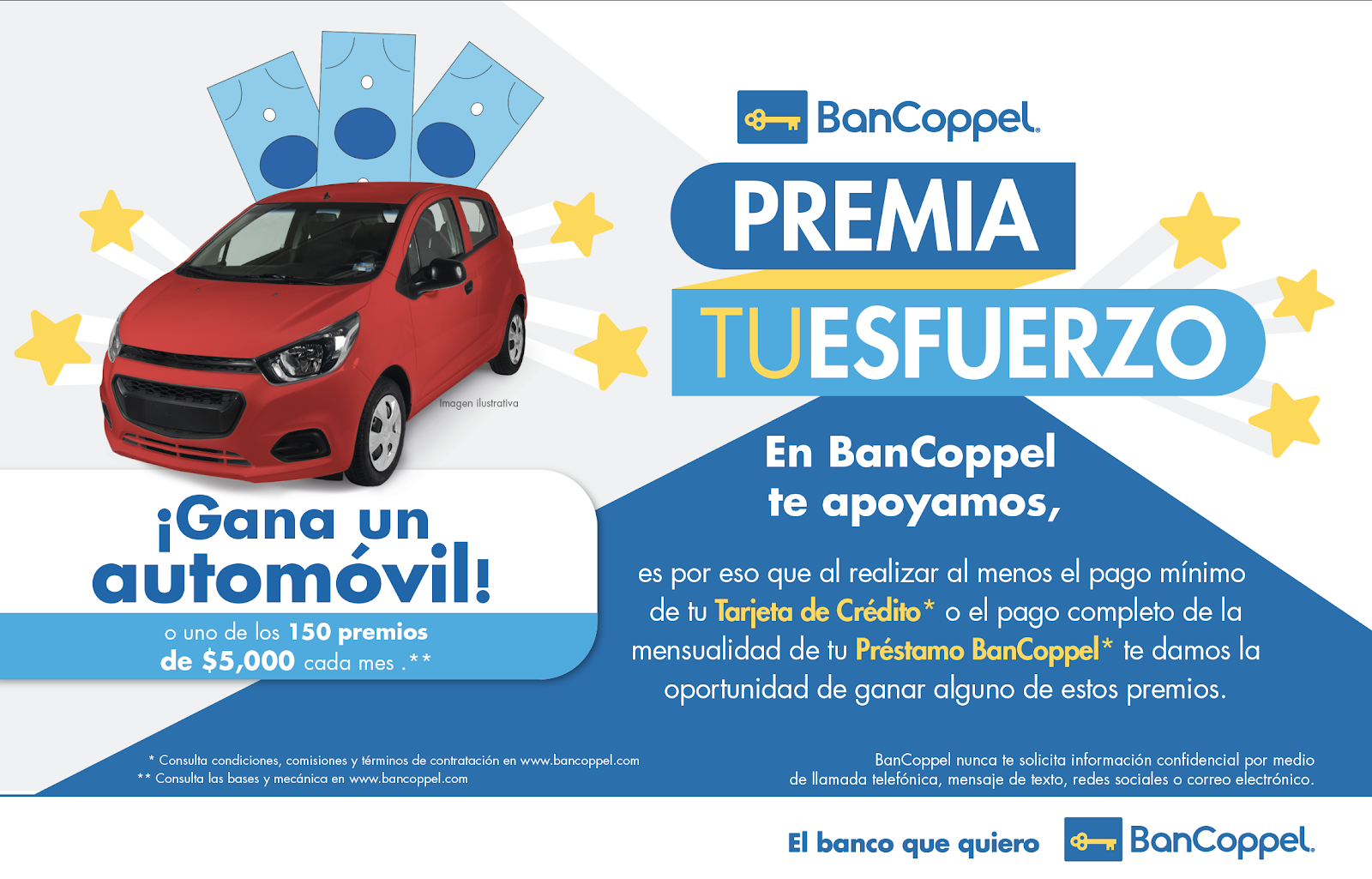 BanCoppel premia tu esfuerzo