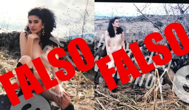 Galilea Montijo denuncia intento de extorsión con estas fotos falsas.