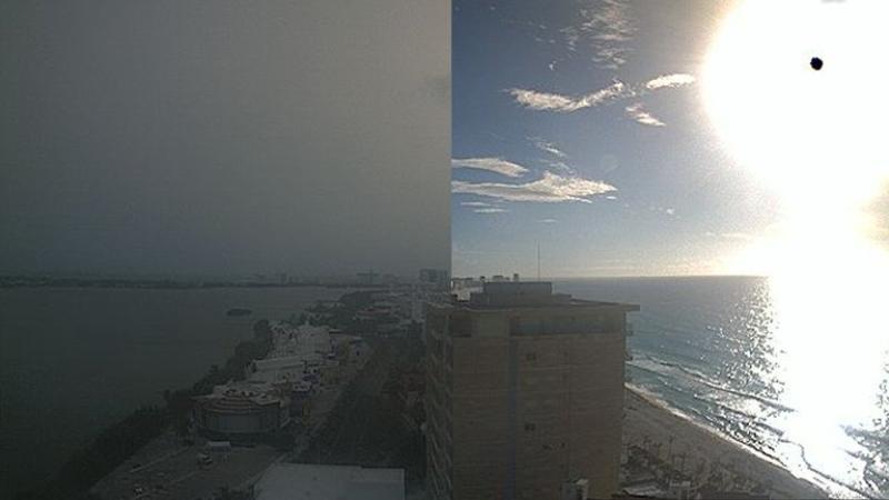 Así luce la impresionante nube de polvo del Sahara que llegó a México