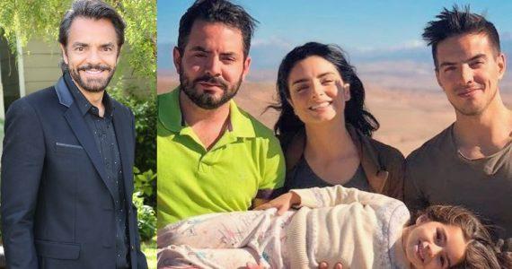 Eugenio Derbez pone su cara en sus cuatro hijos. Fotos: Getty Images / Instagram