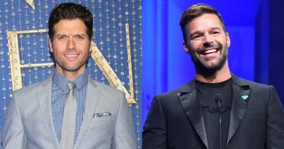 """¡El valiente! Mauricio Martínez le """"coqueteó"""" a Ricky Martin. Fotos: Getty Images"""