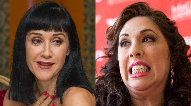 Susana Zabaleta y Regina Orozco 'le tiran' a Paty Navidad. Fotos: Getty Images