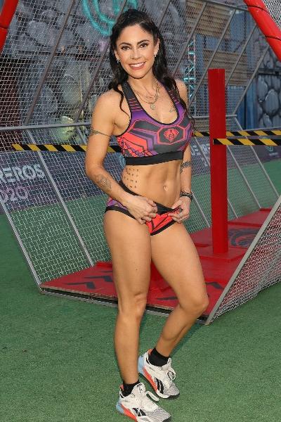 María José Suárez, invitada VIP en Guerreros 2020, equipo Cobras. Foto: José Luis Ramos