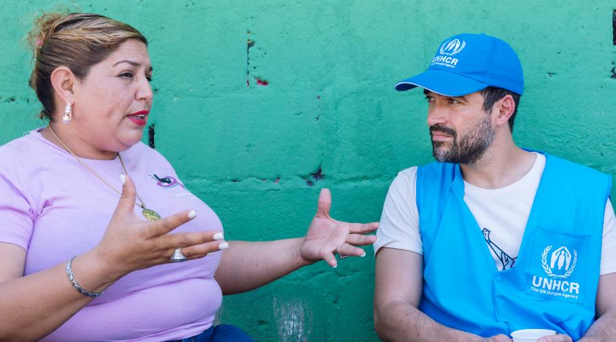 Alfonso Herrera en su viaje a Honduras con Acnur. Foto: Cortesía