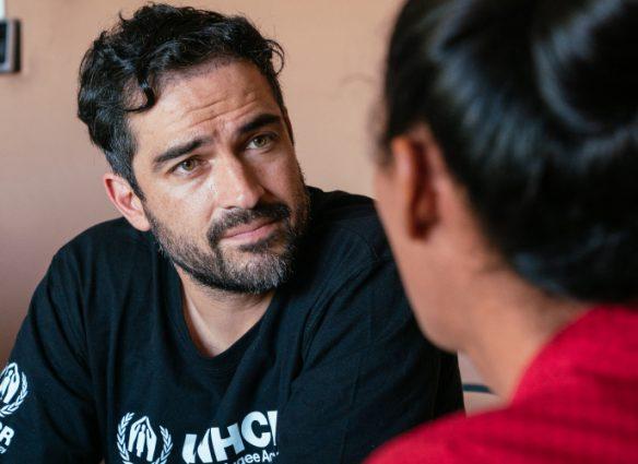 Alfonso Herrera, de RBD a embajador de Acnur. Foto: Cortesía Acnur