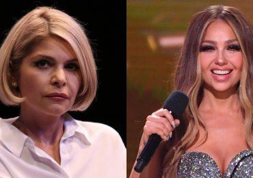 Thalía e Itatí Cantoral imitan juntas a las famosas niñas del pastel. Foto; Getty Images