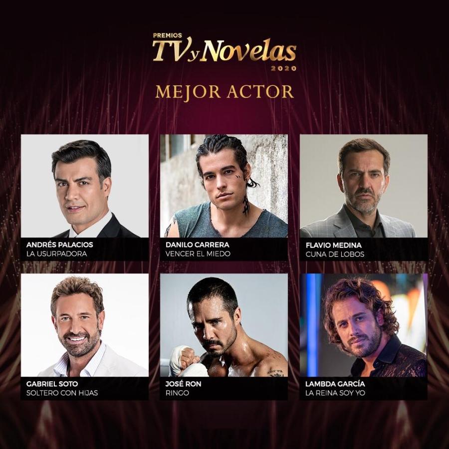 premios tvynovelas 2020 mejor actor