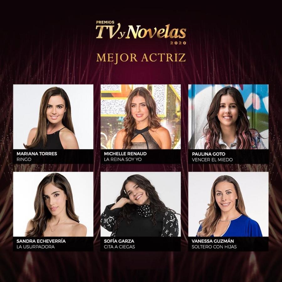 premios tvynovelas 2020 mejor actriz nominadas