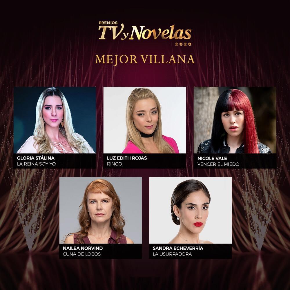 nominadas categoría mejor villana premios tvynovelas 2020