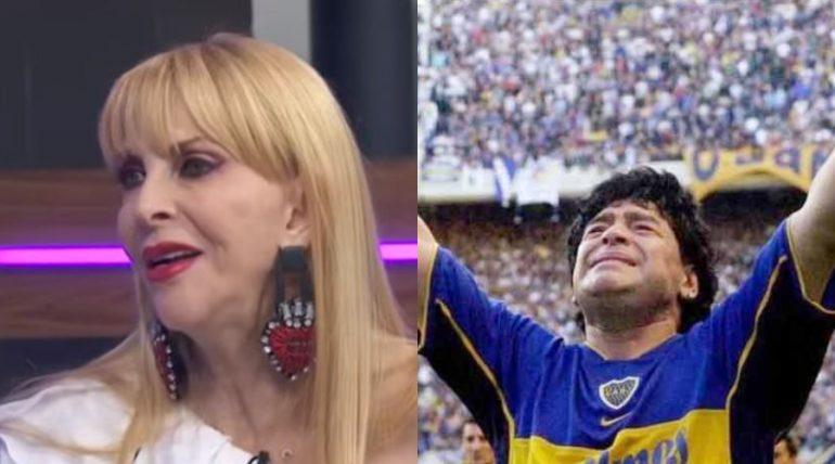 Shanik difunde foto de Maradona en el ataúd y se la acaban. Foto; Archivo