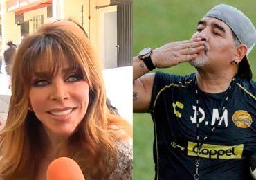 Verónica Castro habló de Maradona