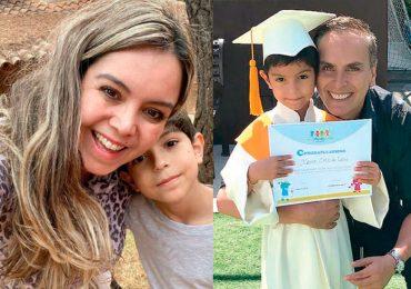 Viuda e hijo de Xavier Ortiz
