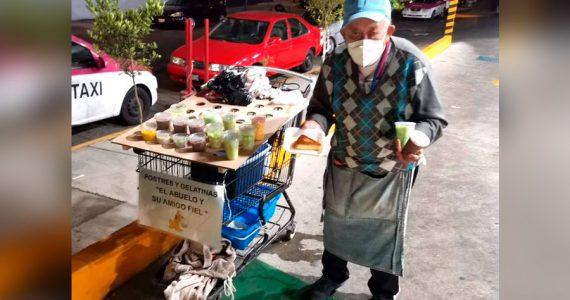 Abuelito vende gelatinas