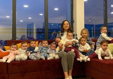 Joven rusa de 23 años tiene 11 hijos y quiere 105