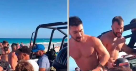 Detienen a pareja gay en playa de Tulum por besarse en público