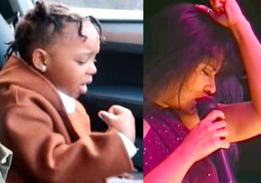 Niña canta como Selena