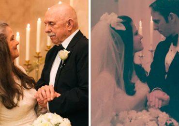 Recrean fotos de casados después de 50 años