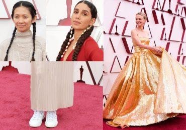 Famosas llegaron en trenzas a los Oscar 2021