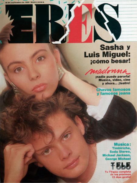 Luis Miguel y Sasha Sokol en la revista Eres