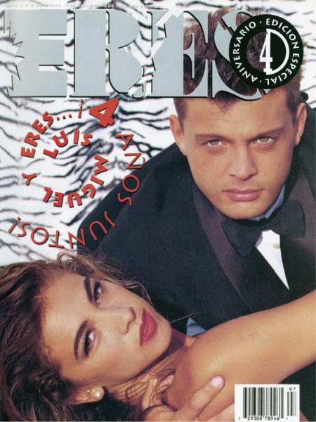 Luis Miguel en la portada de la revista Eres