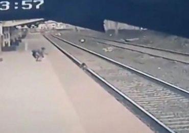 Niño cayó a vías del tren