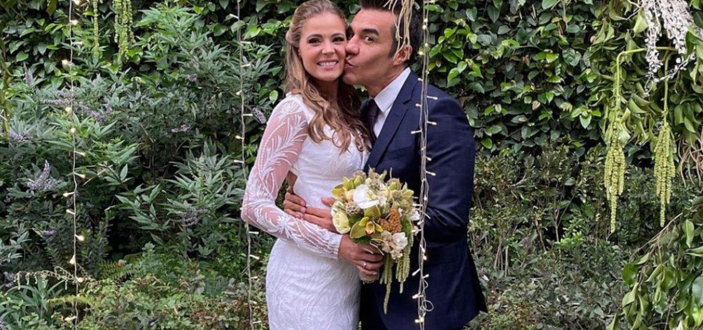 Adrián Uribe se casó con Thuany Martins