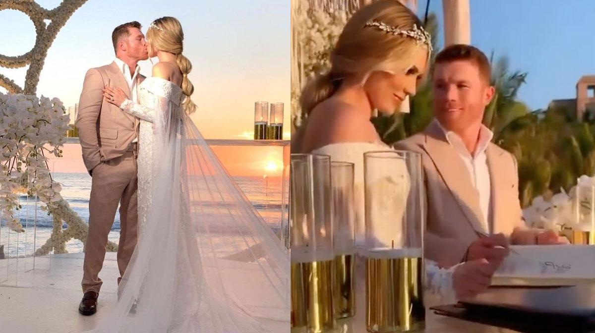 Imágenes de la espectacular boda de 'Canelo' Álvarez y Fernanda Gómez
