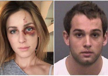 Por celos, campeón de motocross golpea brutalmente a su novia
