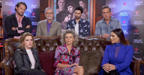 El elenco de Jugar con Fuego se sentó con TVyNovelas para hablar de esta serie