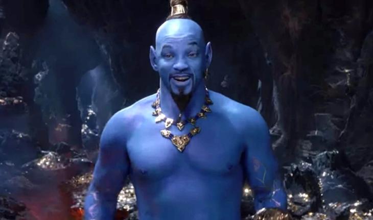 Muestran a William Smith como el Genio de Aladdin
