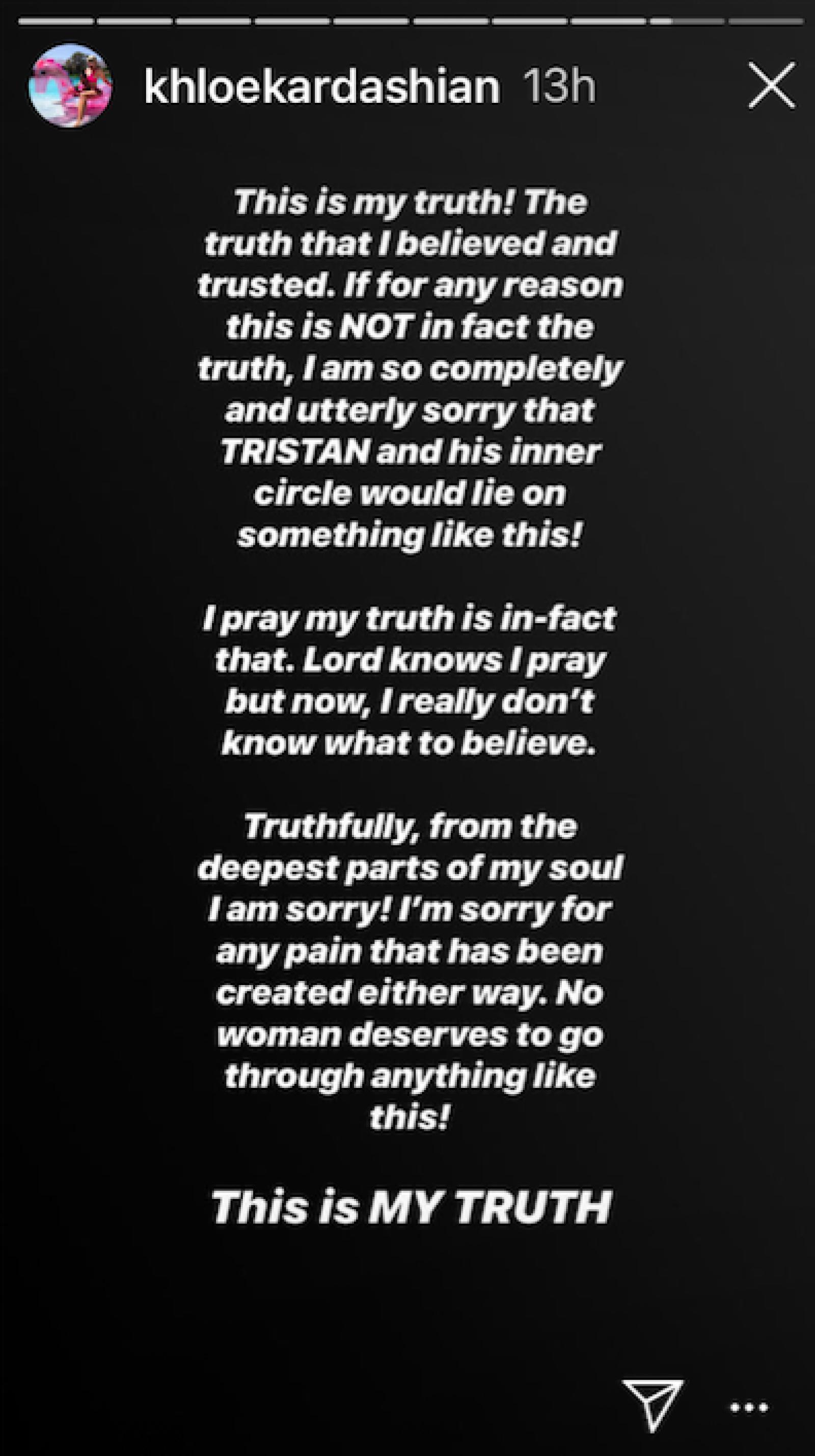 Khloé - Stories Instagram