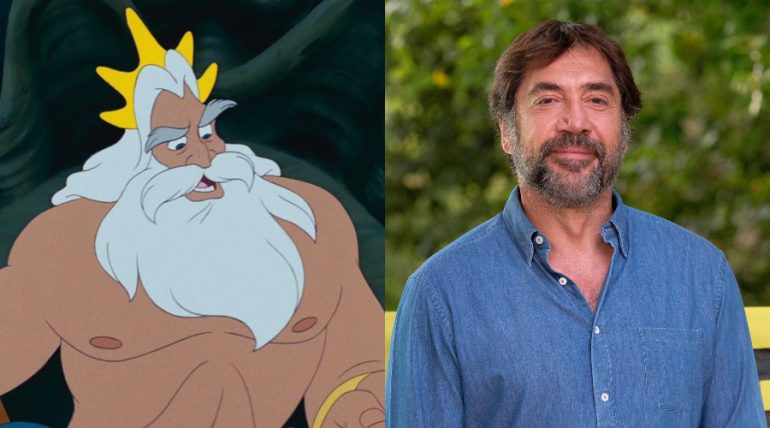 Rey Tritón, La Sirenita. Javier Bardem. Fotos: Disney / Getty Images