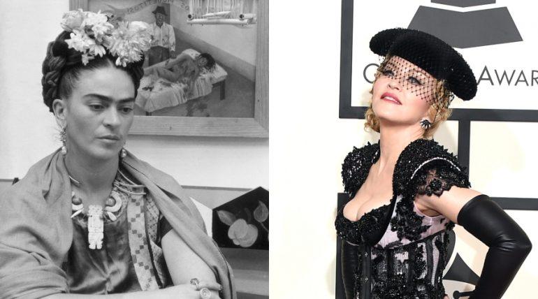 Frida Kahlo, Madonna. Fotos: Getty Images