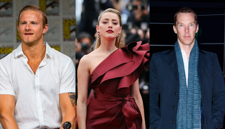 Alexander Ludwig, Amber Heard, Benedict Cumberbatch. Fotos: Getty Images