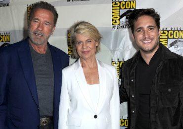 Arnold Schwarzenegger, Linda Hamilton, Diego Boneta. Terminator: Dark Fate. Foto: Getty Images